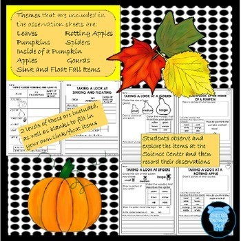 Bundle - Fall and Spring Science Observation Sheets