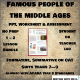 Famous People in the Middle Ages - 1 - 2 Lesson Bundle - M