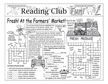 Bundle: Farmers' Market Two-Page Activity Set and Word Search Puzzle