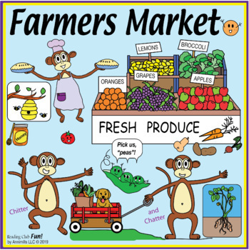 Bundle: Farmers' Market Two-Page Activity Set and Word Sea