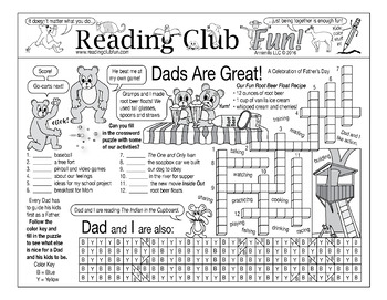 Bundle: Father's Day Two-Page Activity Set and Word Search Puzzle