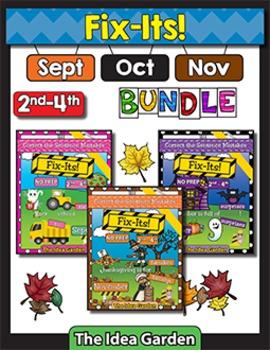 Fall Bundle - Fix-Its NO PREP (2nd-4th) - (Sept/Oct/Nov)