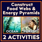 Bundle:  Food Web Cards - Forest and Ocean Ecosystem Activities