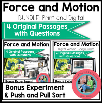 Force and Motion Bundle Science Reading Comprehension {Digital and Print and Go}