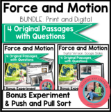 Force and Motion Science Reading Comprehension Passages an