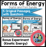 Forms of Energy Bundle Reading Comprehension Passages {Digital and Print and Go}