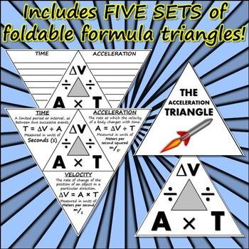 Bundle: Formula Triangles of Science