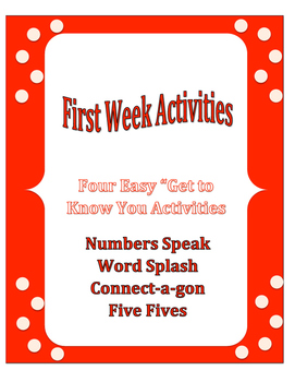 First Week of School: Bundle Four Activities
