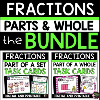 Fraction Bundle Task Cards- (parts of set and parts of whole)
