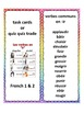 Bundle, French -er, -ir, -re verbs, task cards, quiz quiz trade in French