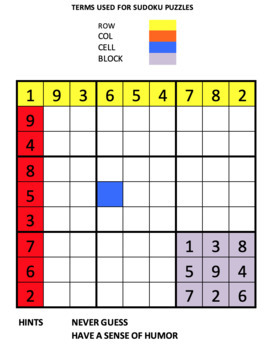 Bundle,  Fun with Sudoku Guy  Gr 4-6. Solving simple sudoku puzzles.