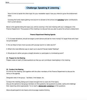 Bundle G11-12 Informative Reading & Writing - Endowment Performance Task
