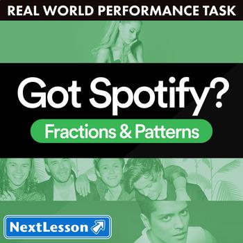 Bundle G4 Fractions & Patterns - Got Spotify? Performance Task