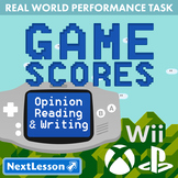 Bundle G4 Opinion Reading & Writing - Game Scores Performance Task