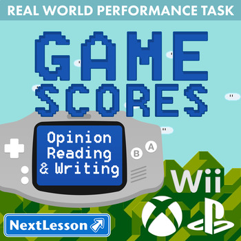 Bundle G4 Opinion Reading & Writing - Game Scores Performance Task