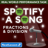 G5 Fractions & Division - Spotify a Song Performance Task