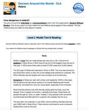 Bundle G5 Informative Reading & Writing-Doctors Round the World Performance Task