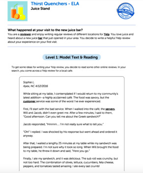 Bundle G5 Narrative Reading & Writing - Thirst Quenchers Performance Task