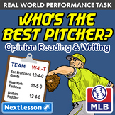Bundle G5 Opinion Reading & Writing - Who's the Best Pitcher? Performance Task