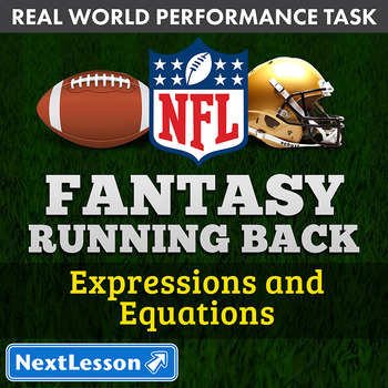 Bundle G6 Expressions & Equations - Fantasy Running Back Performance Task