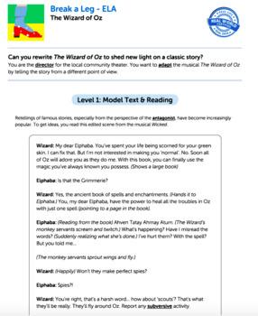 Bundle G7 Narrative Reading & Writing - Break a Leg Performance Task