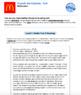 Bundle G7 Narrative Reading & Writing - Crunch the Calories Performance Task