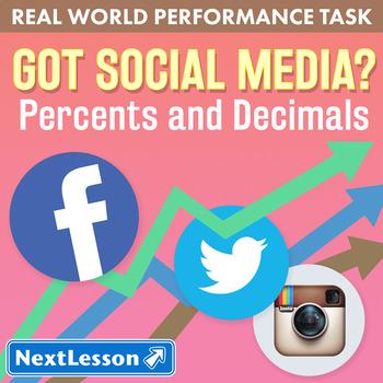 Bundle G7 Percents and Decimals - Got Social Media Performance Task