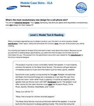 Bundle G9-10 Informative Reading & Writing - Mobile Case Skins Performance Task