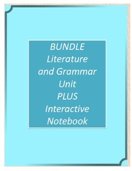 Bundle! Gathering Blue Literature and Grammar Unit AND Int