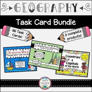 Bundle Geography Task Cards