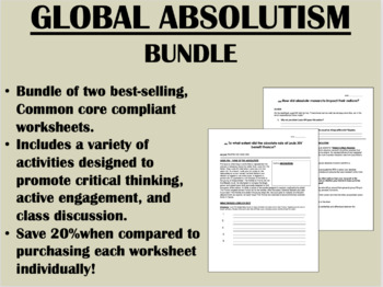 Global Absolutism Bundle - Global/World History Common Core