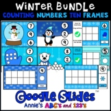 Bundle Google Slides ™ Winter Kindergarten Counting