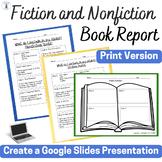 Printable Bundle Fiction & Nonfiction Book Report Slideshow