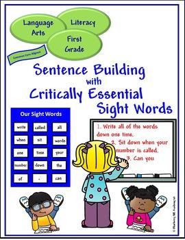 Sight Words for Sentence Building Bundle (1, 2, 3)