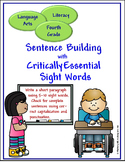 Sight Words for Sentence Building Bundle (4, 5, 6)