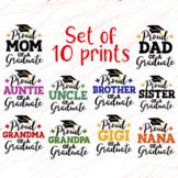 Bundle Graduate shirts design Proud family svgs