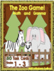 Bundle Grammar 53 Printables!  The Zoo Game!  50  ELA and Math Task cards!
