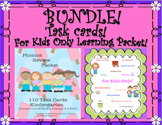 Bundle! Grammar Task Cards! For Kids Only Learning packet! Activities! K - 2