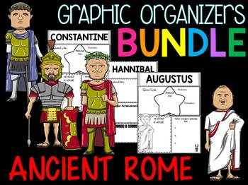 Bundle - Graphic Organizers - Important Figures of Ancient Rome
