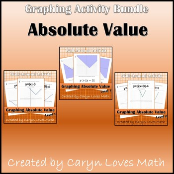 Bundle - Graphing Absolute Value - Walk Around Activity