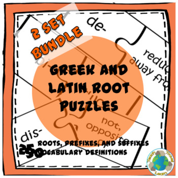 Bundle: Greek and Latin Root Puzzles Sets 1 and 2