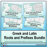 Bundle: Greek and Latin Roots and Prefixes Card Sorts and