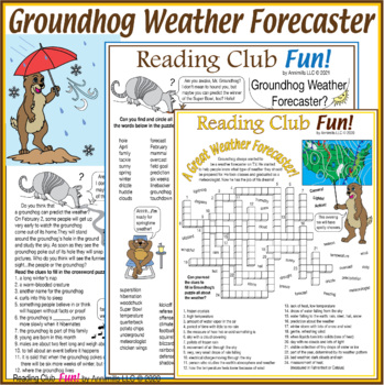 Bundle: Groundhog Day and Weather Two-Page Activity Set an