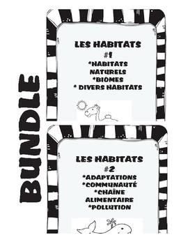 Bundle Habitats Student Workbooks #1 & # 2 French Les habitats cahier d'éleve