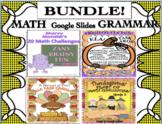 Bundle Halloween Thanksgiving Math Grammar Google Slides Task Cards