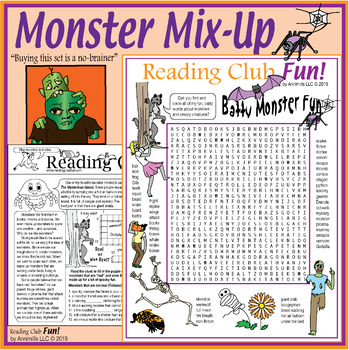 Bundle: Halloween Two-Page Activity Sets and Puzzles