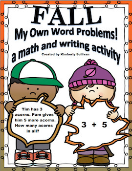 Bundle Halloween and Fall Word Problems  Grades 1 - 3  Lesson Plan