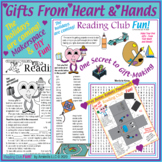Bundle: Handmade Gifts Activity Page, Puzzle, DIY Crafts Paper Robot