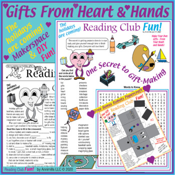 Bundle: Handmade Holiday Gifts Activity Page, Puzzle, and