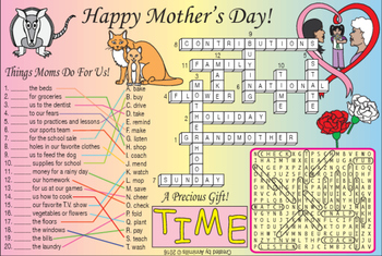Bundle: Happy Mother's Day and Sound of 'I' Two-Page Activity Set & Puzzle